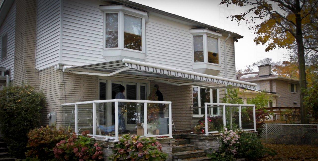 roof seam pin metal metalawning homeimprovement awning entryway frontdoorawning standing