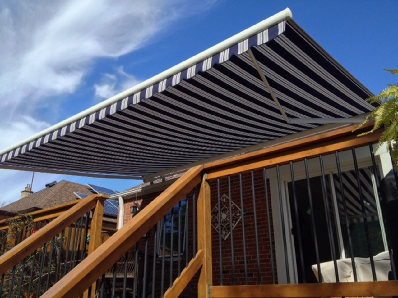 Retractable Permanent Awnings Fabric Awnings And Patio Covers