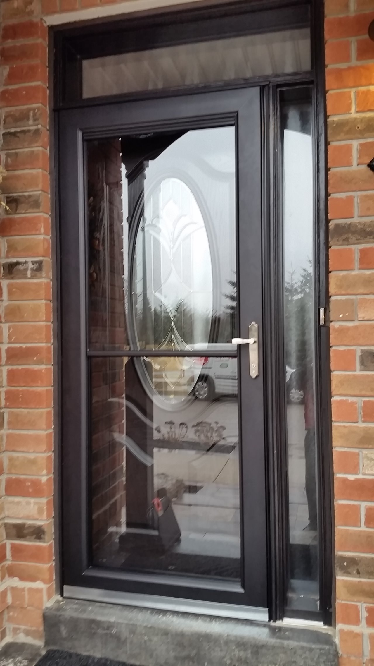 Enclosures storm doors for Front entry doors with storm door