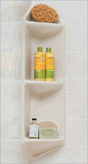 shelving insert on jacuzzi one day bath by lifestyle home products